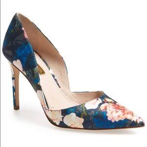 Floral pump shoes